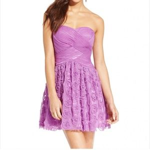 Hailey Logan Adrianna Papell 1/2 Purple Dress Rose